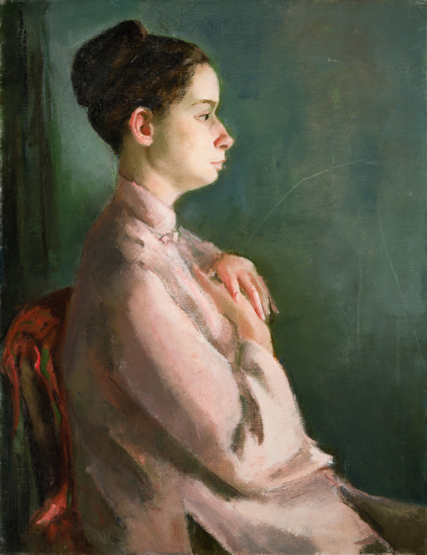 Woman in the Pink Blouse by Miriam McClung