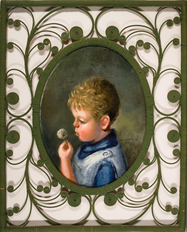 Boy Blowing a Dandelion by Miriam McClung