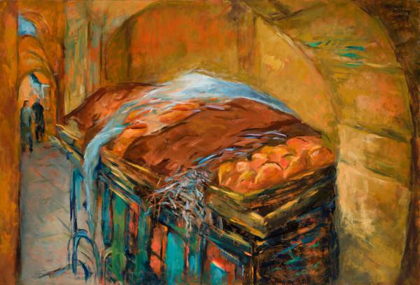 Bread Cart by Miriam McClung