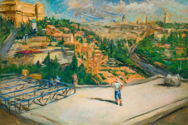 The Man with the Cell Phone in Israel by Miriam McClung