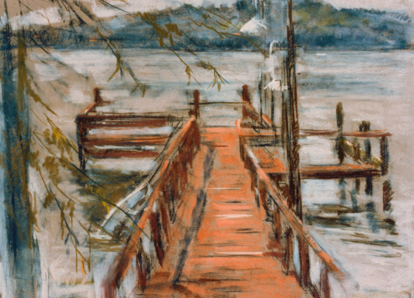 The Dock at the Lake by Miriam McClung
