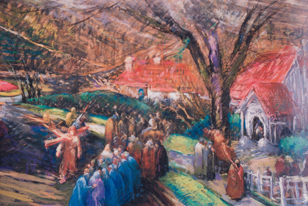 8 - Stations of the Cross Series - Christ Meets the Women of Jerusalem by Miriam McClung