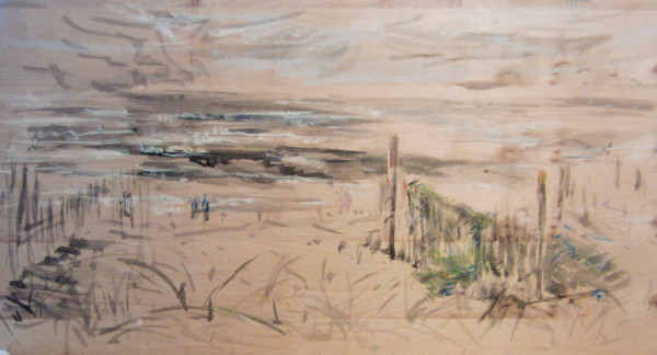 The Fisherman's Net at the Beach by Miriam McClung