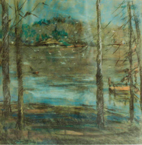 Winter Scene at Lake Logan Martin by Miriam McClung