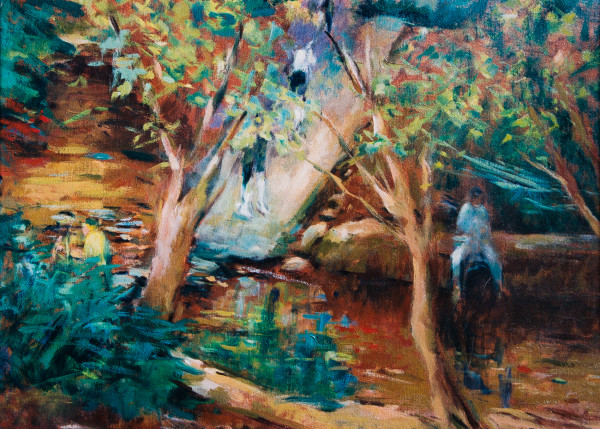 Crossing Shades Creek on the Mountain Brook Parkway by Miriam McClung
