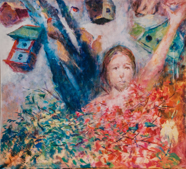 Christ and the Birdhouses by Miriam McClung