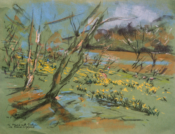 Daffodils by the River in Kingsport, Tennessee by Miriam McClung