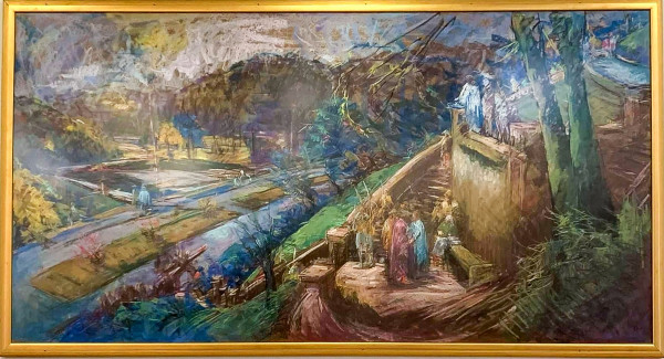 1 - Stations of the Cross Series - Christ Is Condemned by Miriam McClung