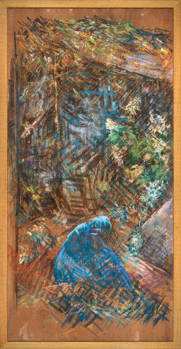 The Gardener (Left Panel) by Miriam McClung