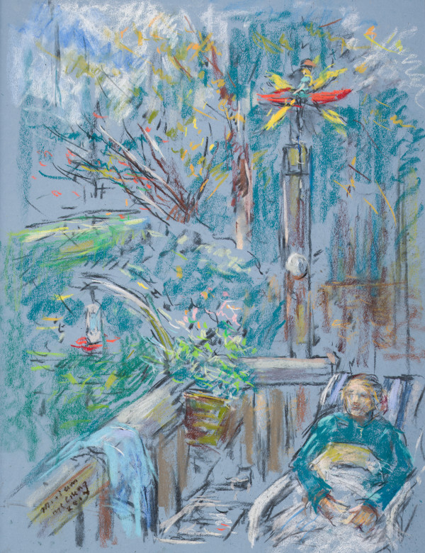 Woman on a Porch by Miriam McClung