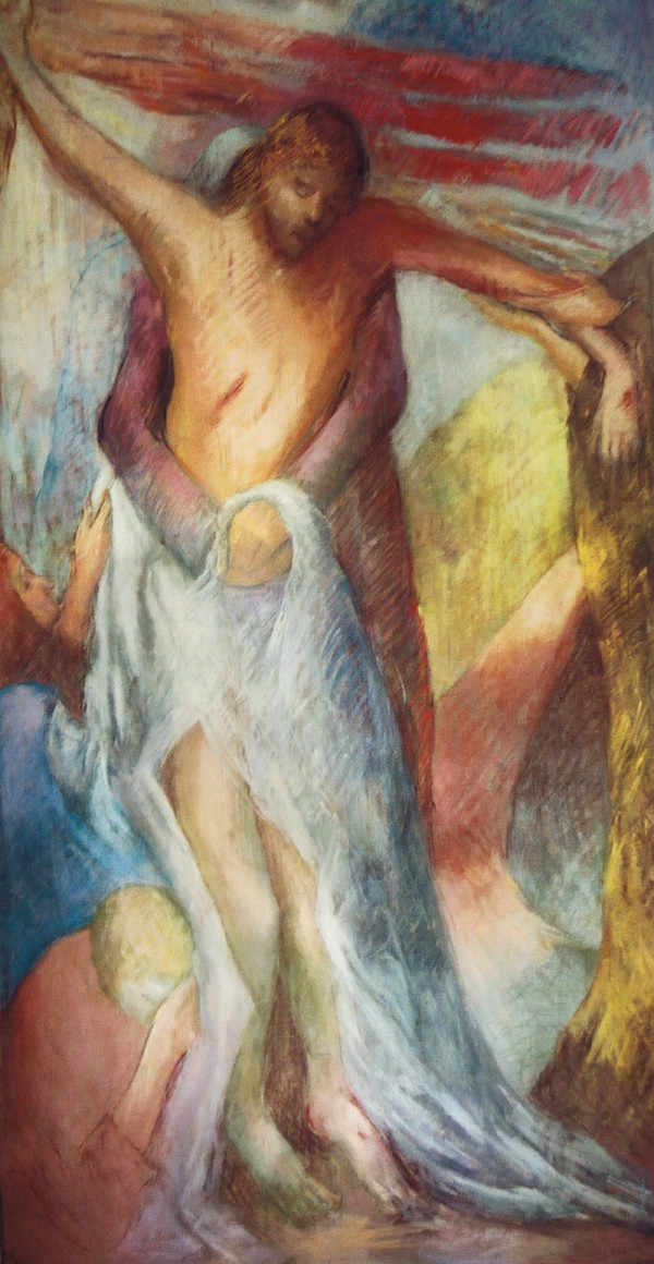 13 - Stations of the Cross Series - Jesus Taken Down by Miriam McClung
