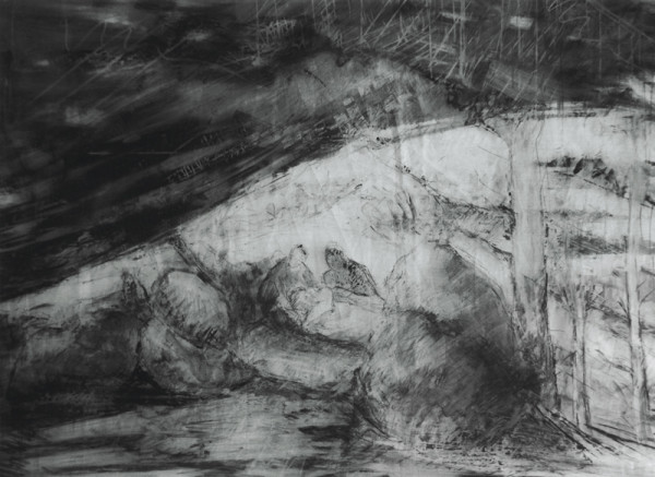 14 - Stations of the Cross Series - Jesus Is Laid in the Tomb by Miriam McClung