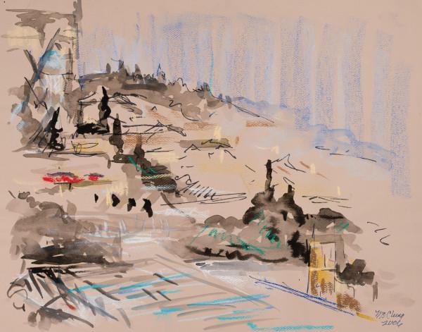 Looking Toward the King David Hotel in Israel by Miriam McClung