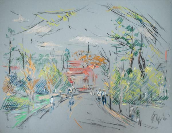 Canterbury Road, Mountain Brook, Alabama by Miriam McClung