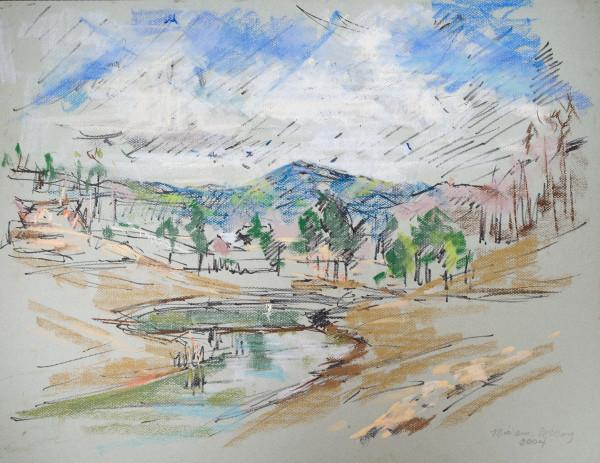 The View Looking Toward Shoal Creek, Alabama by Miriam McClung