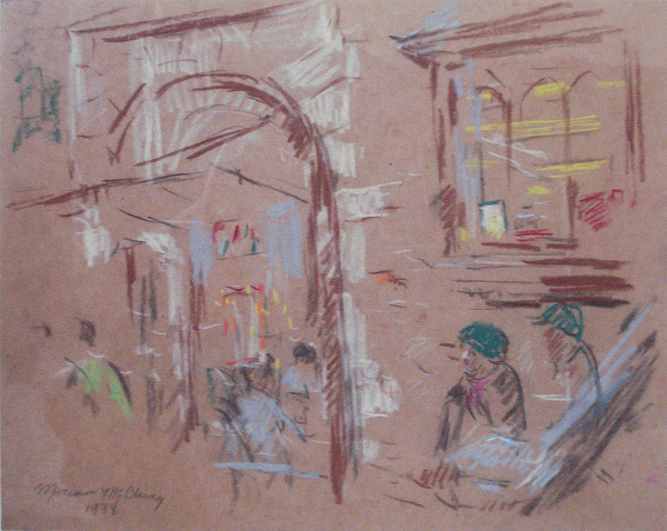 Study for Gilchrist Drug Store ,  Mountain Brook Village by Miriam McClung