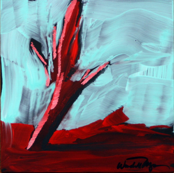 Red Tree Mini #1 by Wendell Myers