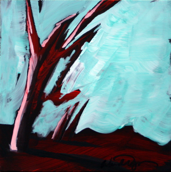 Red Tree Mini #2 by Wendell Myers