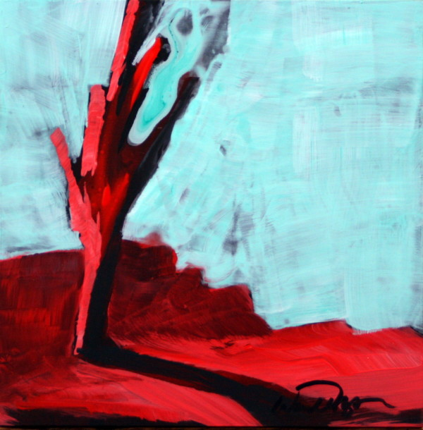 Red Tree Mini #3 by Wendell Myers