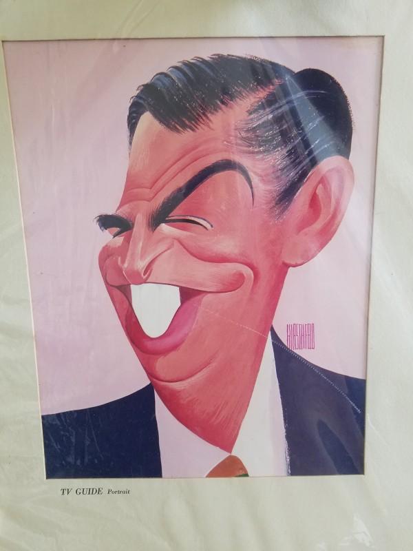 Milton Berle - Tv Guide cover portrait (vintage print) by Al Hirschfeld