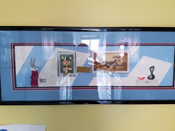 Bugs Bunny/Road Runner Movie - multi-cel setup w pan background by Warner Bros. Animation