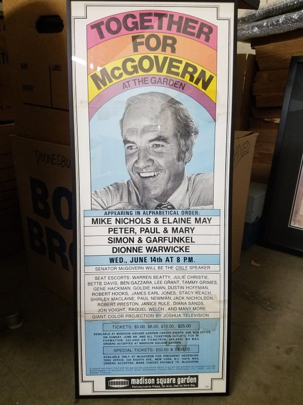 Together For McGovern poster (Madison Sq Garden 1972)