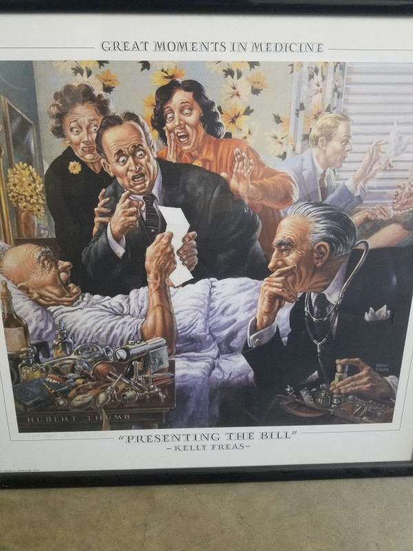 """'Presenting the Bill"""" - artist proof litho by Kelly Freas"""