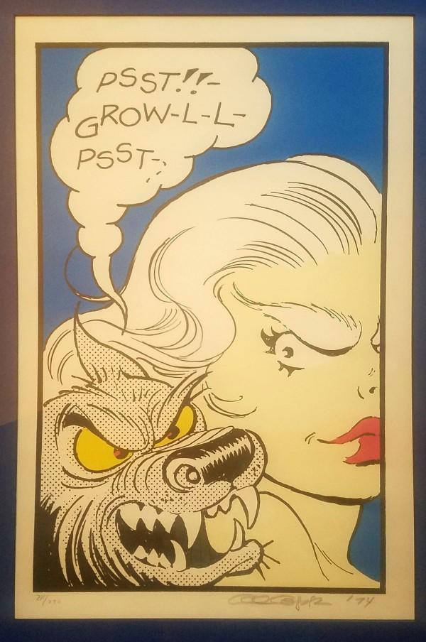 Wolf Gal s/n print by Al Capp