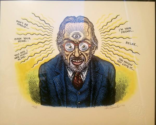 Third Eye - s&n litho by Robert Crumb