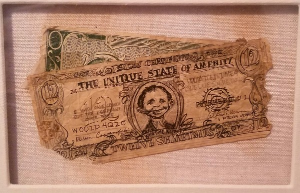 Alfred E Neuman currency by Wally Wood