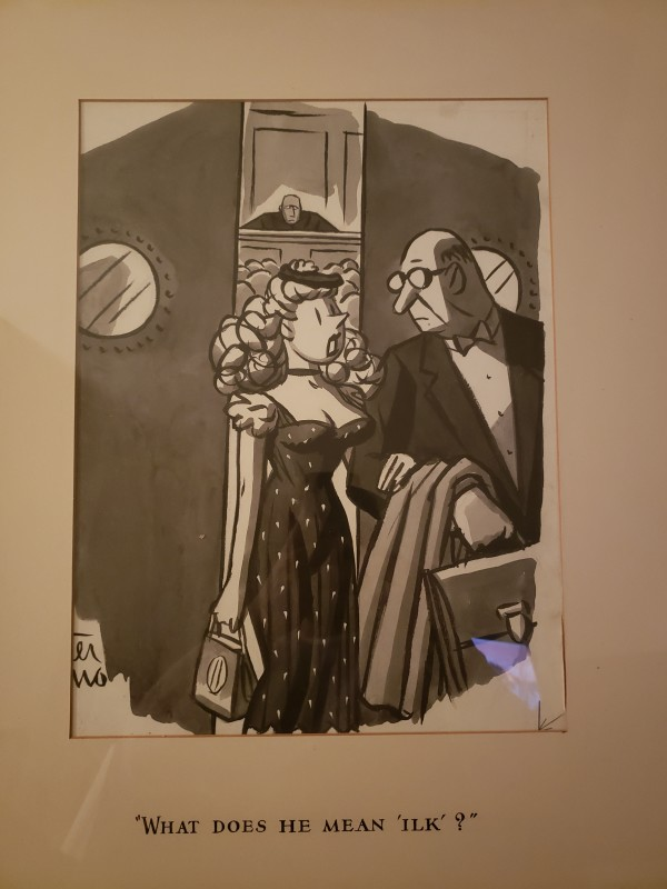 """""""What does he mean, 'ilk?'"""" by Peter Arno"""