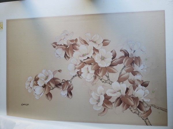 untitled flower painting - included in Little Abner lot by Unknown