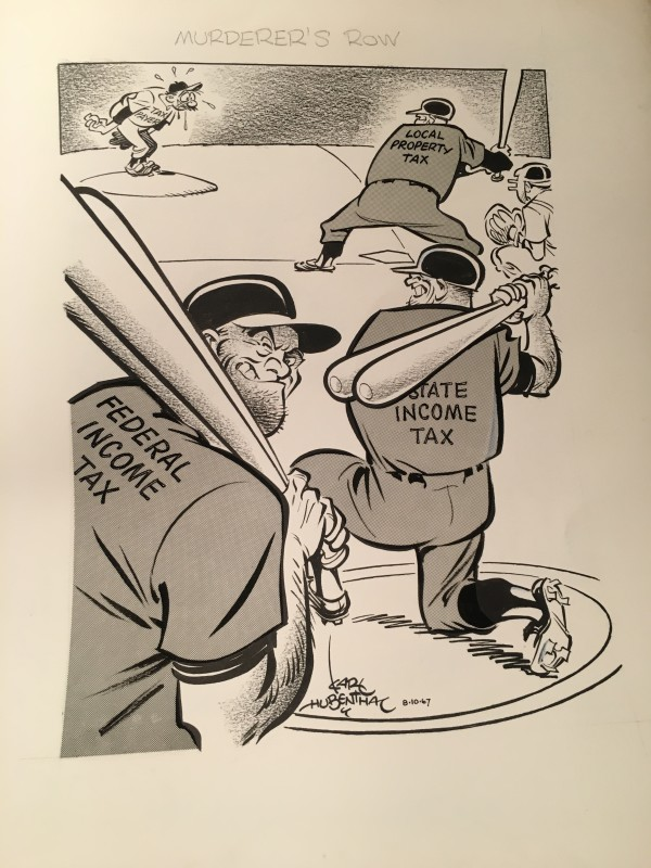 10 Different Karl Hubenthal editorial cartoons (1950's-70's) by Karl  Hubenthal