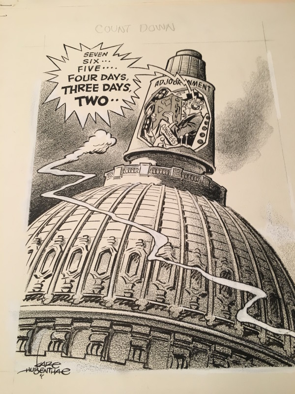 3 Different Karl Hubenthal editorial cartoons (1950's-70's) by Karl  Hubenthal