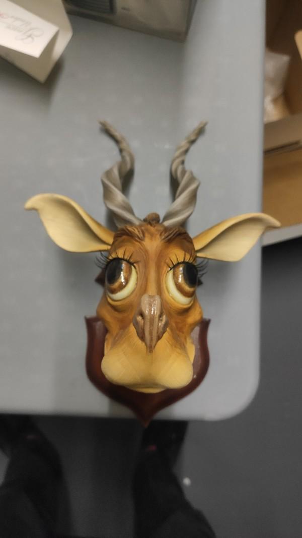 Fuzzle Deer Taxidermy Sculpture by Carl Turner