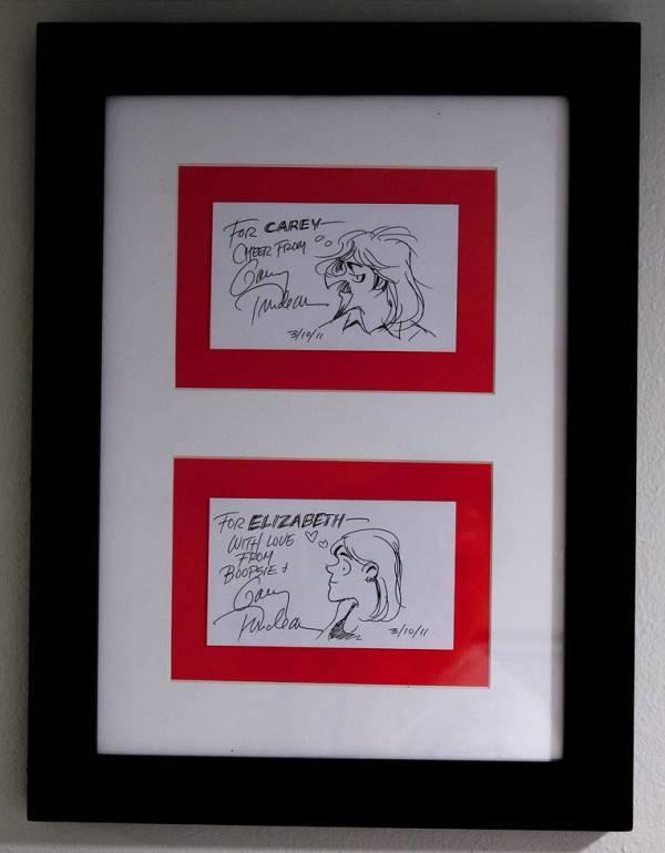 Zonker & Boopsie sketches by Garry  Trudeau