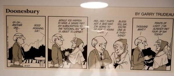 Doonesbury daily strip by Garry  Trudeau