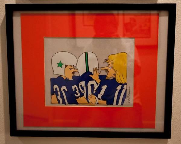Zonker football cel by Garry  Trudeau