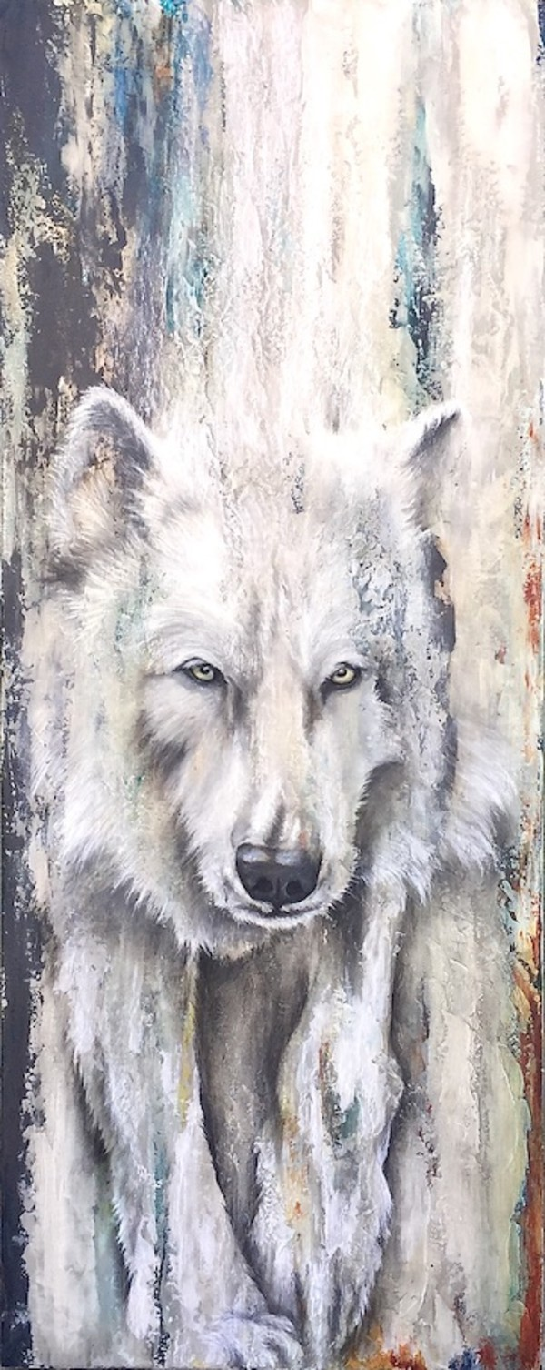 "From the Depths  ""Arctic Wolf"" by Tabitha Benedict"