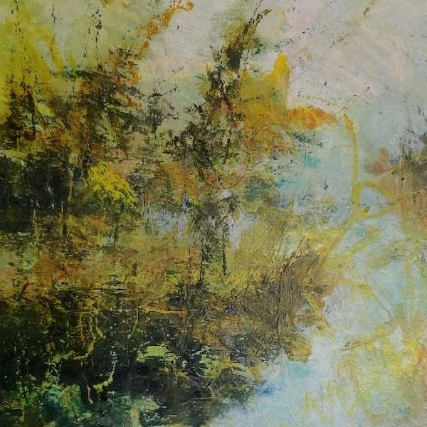 North Woods Shoreline by Mary Mendla