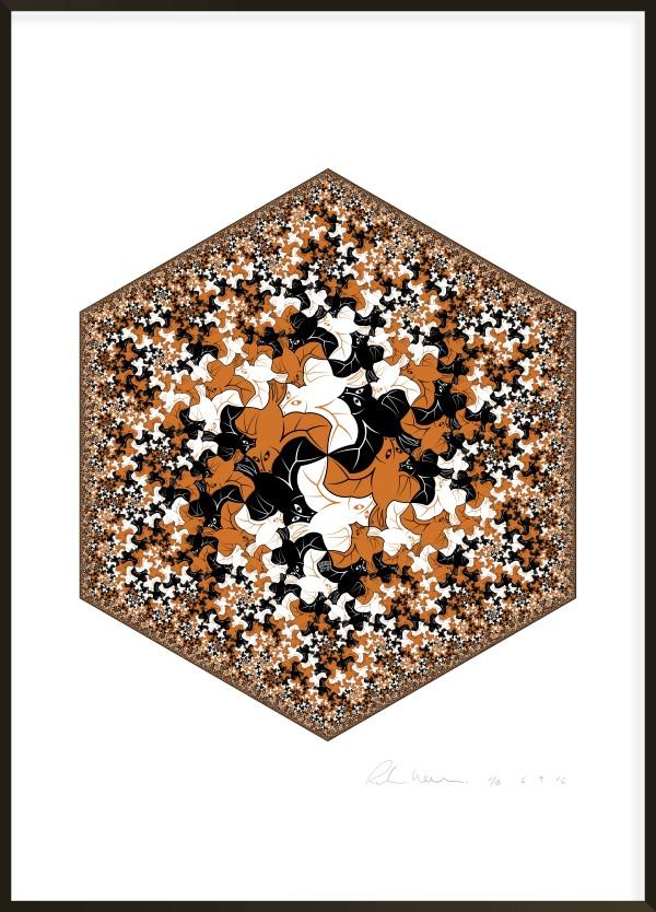 Hexagonal Limit - Bat Fractal I #3 of 8 by Richard Hassell