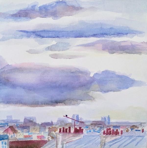 Paris Rooftops by Kit Hoisington