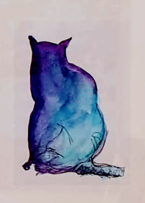 Purple Cat by Kit Hoisington