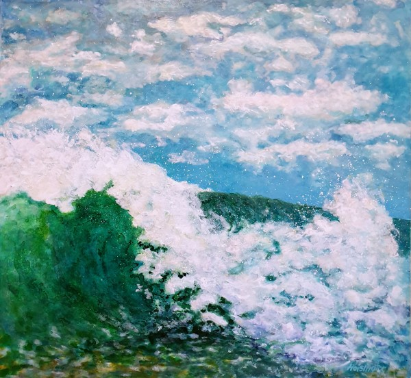 Wave and Clouds by Kit Hoisington