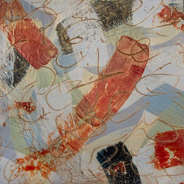 Instances: Red Coat Walking by Lisa Sisley-Blinn