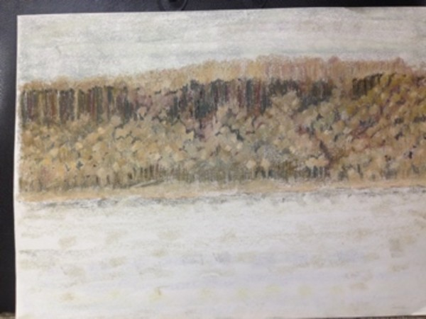 Palisades in early fall by alice brickner