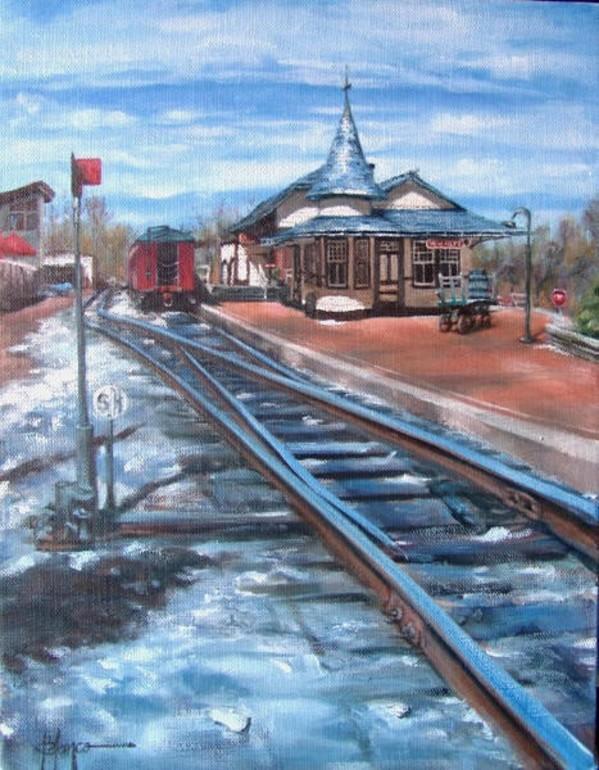 New Hope Train Station, Pa. by Jeannina Blanco