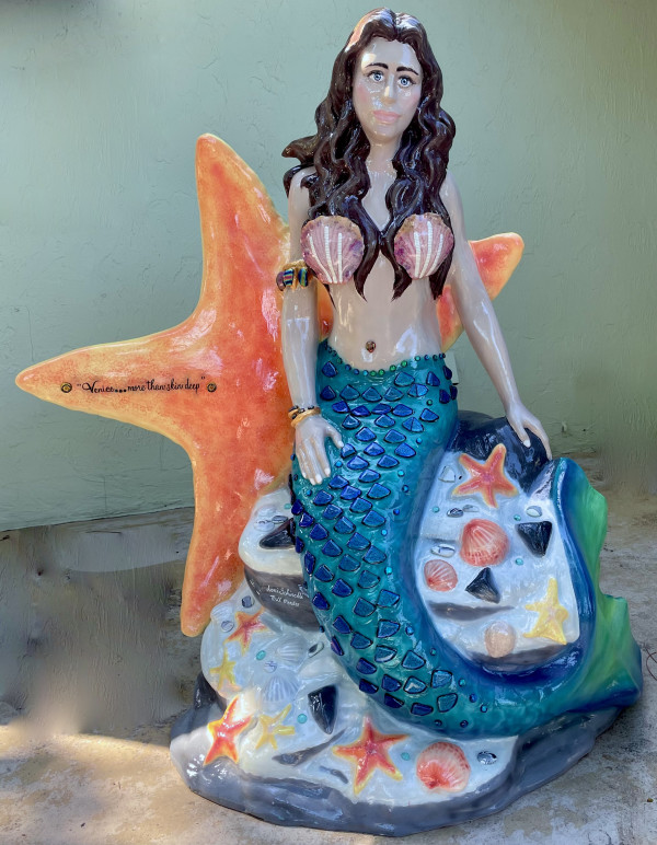 Mermaid public art project by Lori Schinelli and Bill Mendes