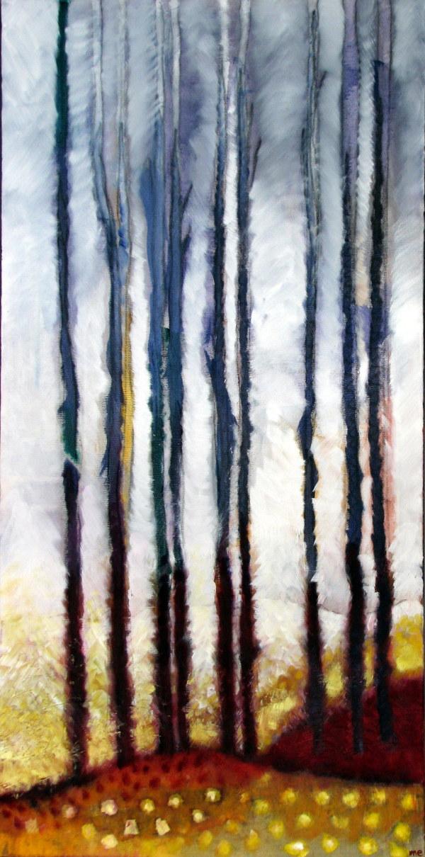 Poplars at Dawn by Marianne Enhörning