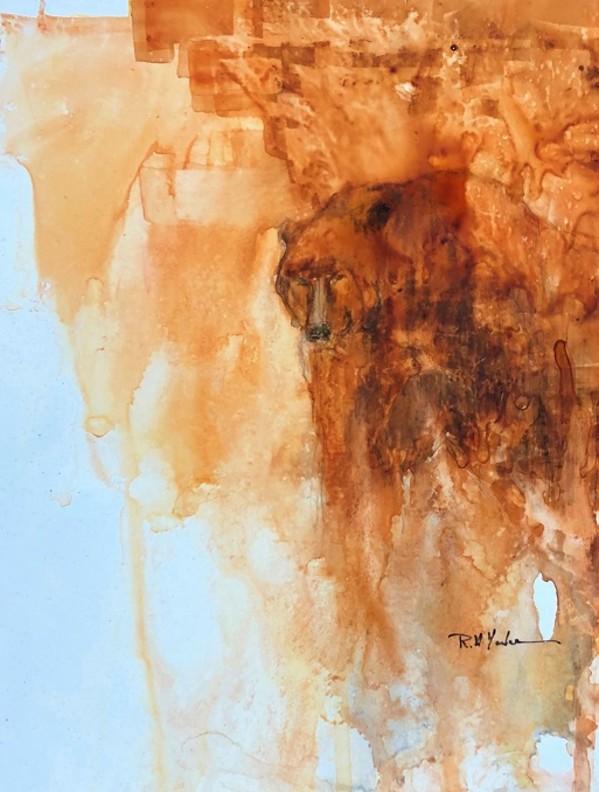 Bear on Yupo by Robert Yonke